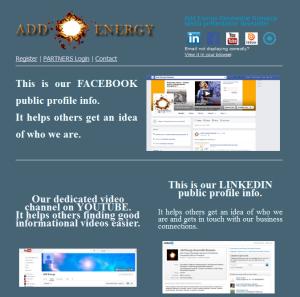 Add Energy media Acounts