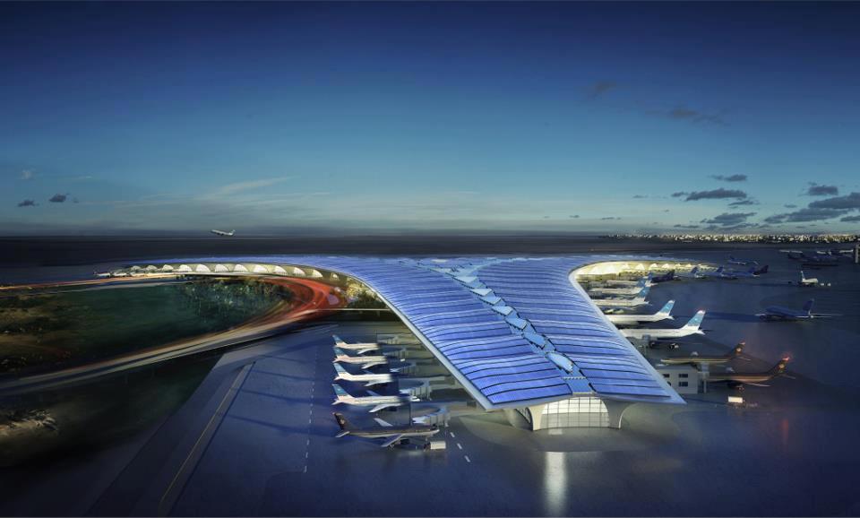 Aeroport si panouri solare