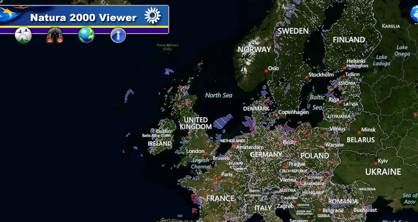 Harta INTERACTIVA NATURA 2000 EUROPA