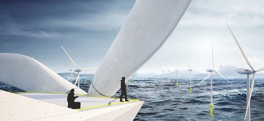 Awesome Future Job Crew A Luxury Wind Turbine In The Middle Of The Ocean 02