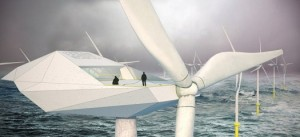 Awesome Future Job Crew A Luxury Wind Turbine In The Middle Of The Ocean