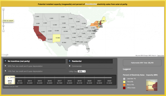 Interactive US Solar Grid Parity Map Launched
