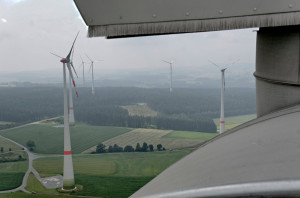 Wind turbines with storage on board