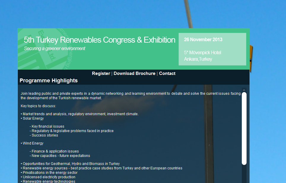 5th Turkey Renewables Congress & Exhibition 01