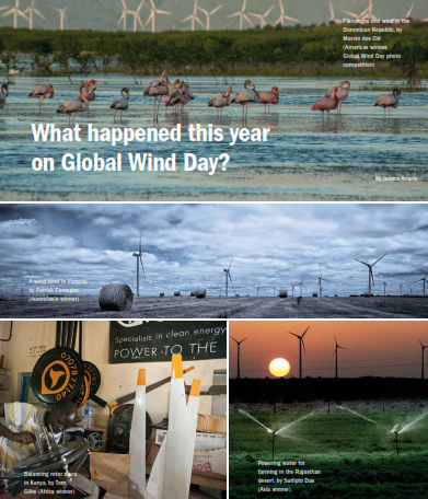 What happend this year on global wind day