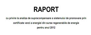 Raport cu privire la analiza supracompensarii CV