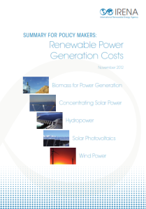 Renewable Power - Generation costs 11.2012