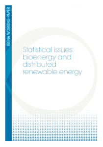 Statistical Issues - Bioenergy and distributed renewable energy