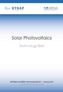 Technology brief - Solar Photovoltaics, 01.2013