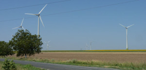 Wind farms built in Romania in 2013