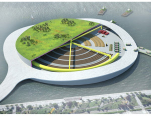 A brilliant composting island concept for New York