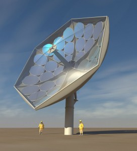 IBM solar collector magnifies sun by 2,000x