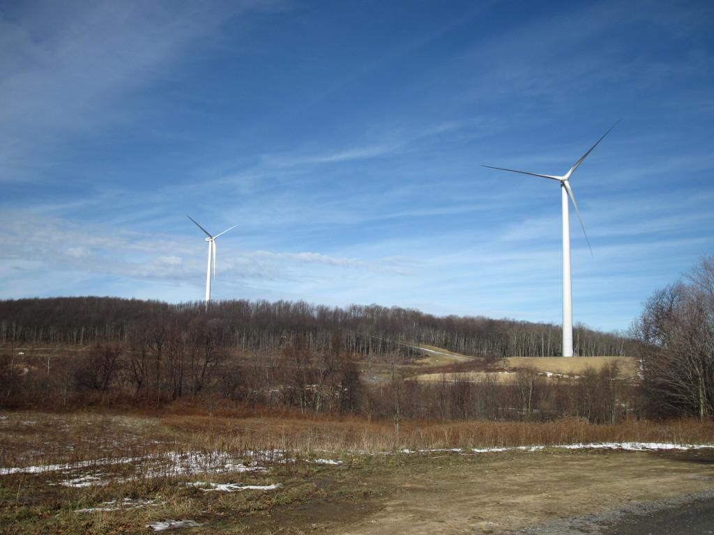 2 wind turbines