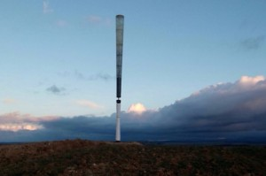Vortex a bladeless wind turbine that looks like asparagus
