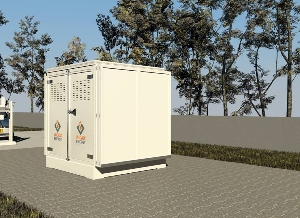 Container fotovoltaic inchis