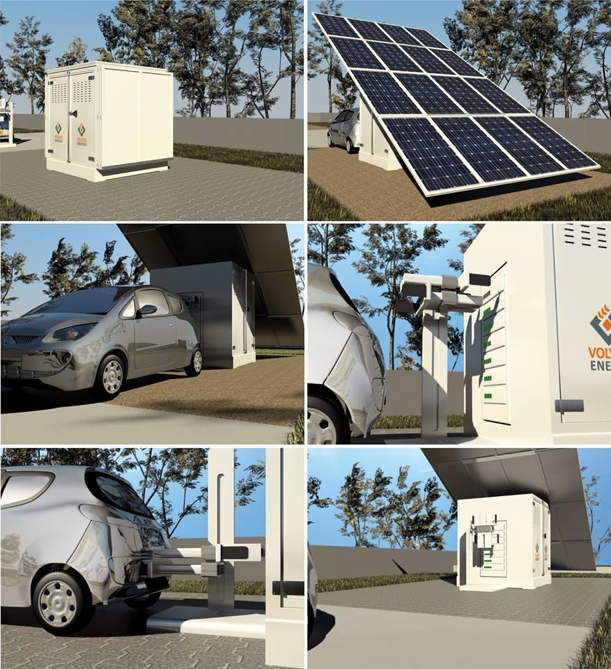 Container fotovoltaic - stagii de incarcare